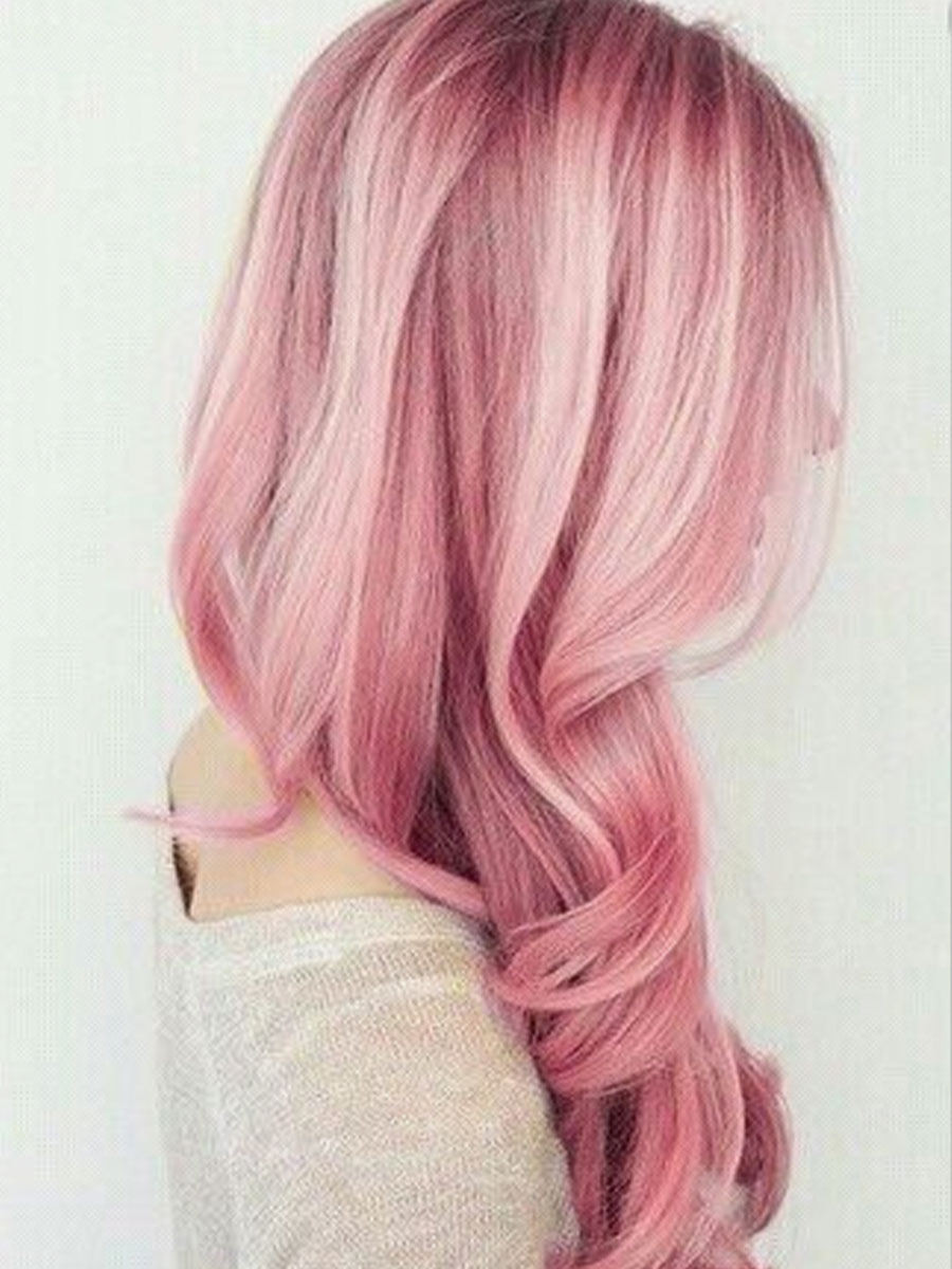 Dusky Pink Hair Colour